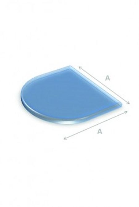 Vloerplaat glas halfrond 80x80