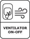 Ventilatoronoff symbool